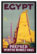 Vintage Travel Poster Egypt Premier Winter Rendezvous